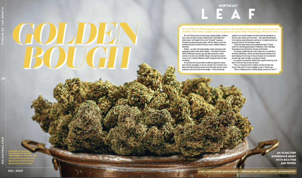 Canna Provisions Golden Bough Jon Piasecki Wiseacre Farm Cannabis Berkshires Lee Holyoke Pioneer Valley Easthampton