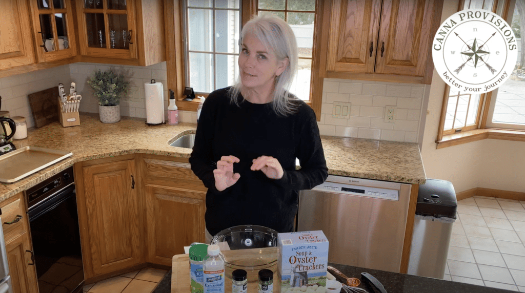 Canna Provisions CEO Meg Sanders Dose It Yourself DIY cannabis dosed ranch oyster crackers