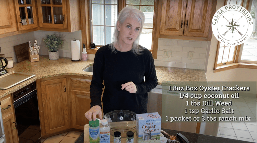 canna provisions ceo meg sanders dose it yourself diy canabis dosed ranch oyster crackers