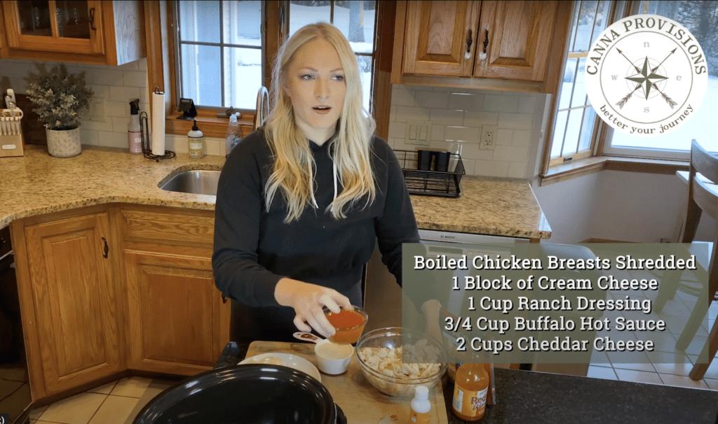 DIY Dose it yourself super bowl buffalo chicken dip cannabis dosed hot sauce Pique